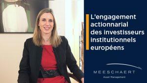 L'engagement actionnarial des investisseurs institutionnels européens